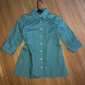 Lands end size 4 button down 3/4 sleeve